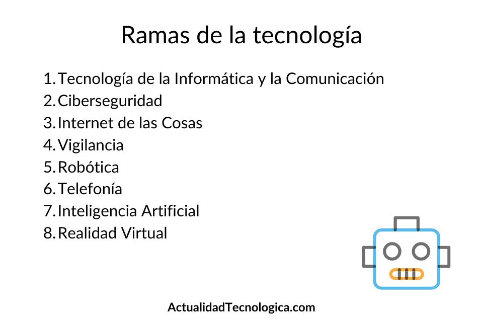 Ramas de la tecnología